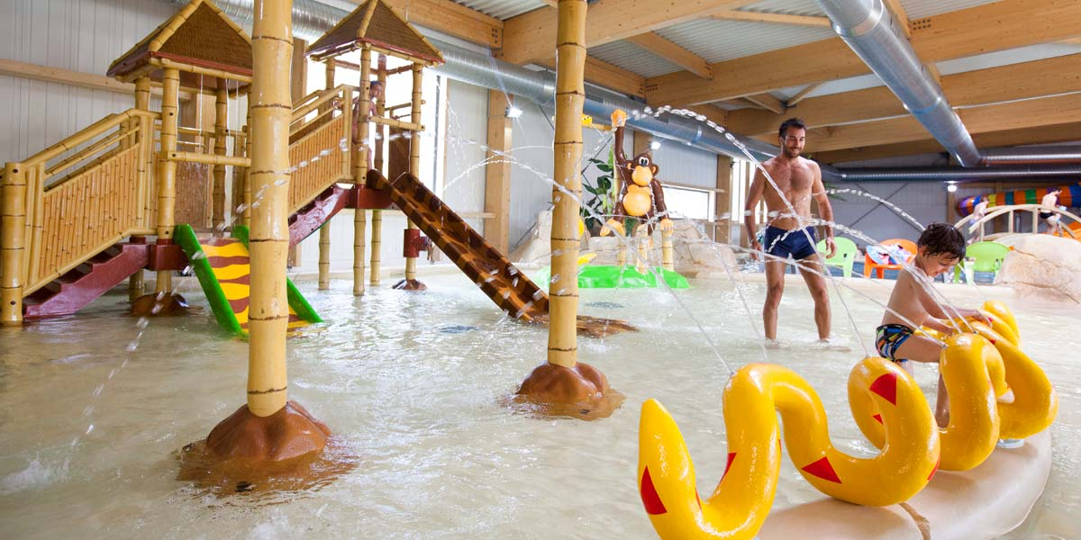 Indoor heated pool at Le Fief campsite in southern Brittany