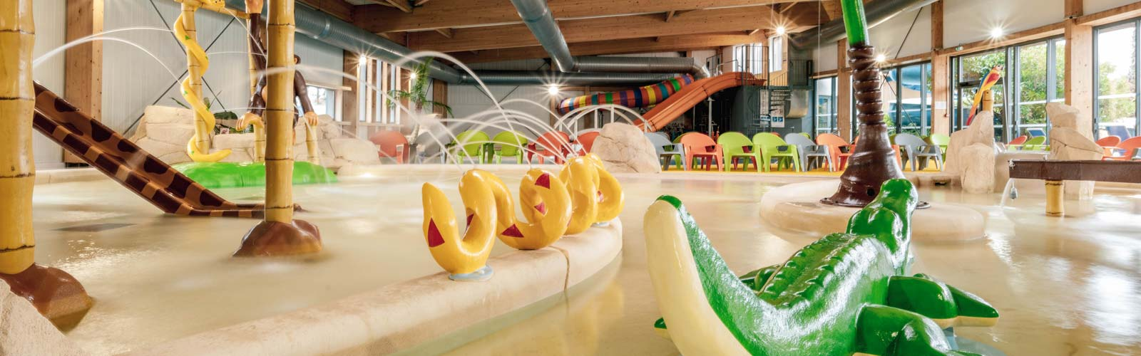 Indoor water park at Le Fief campsite in Saint-Brevin