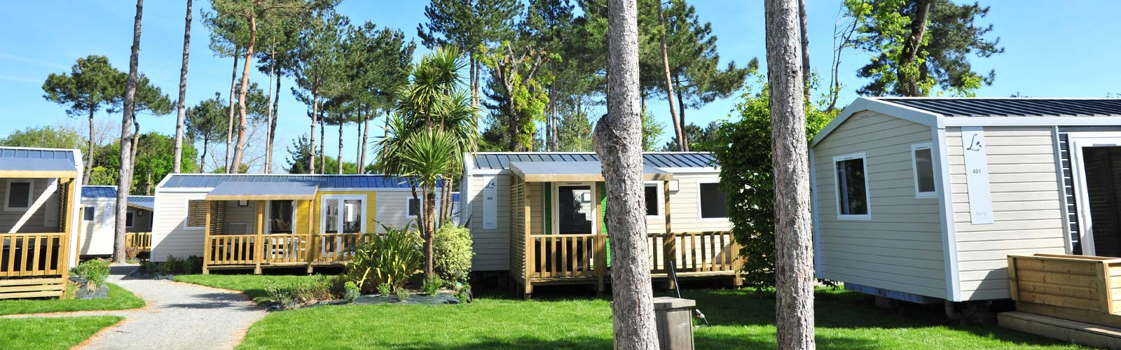 Luxury and comfort mobile homes at Le Fief campsite in Loire-Atlantique